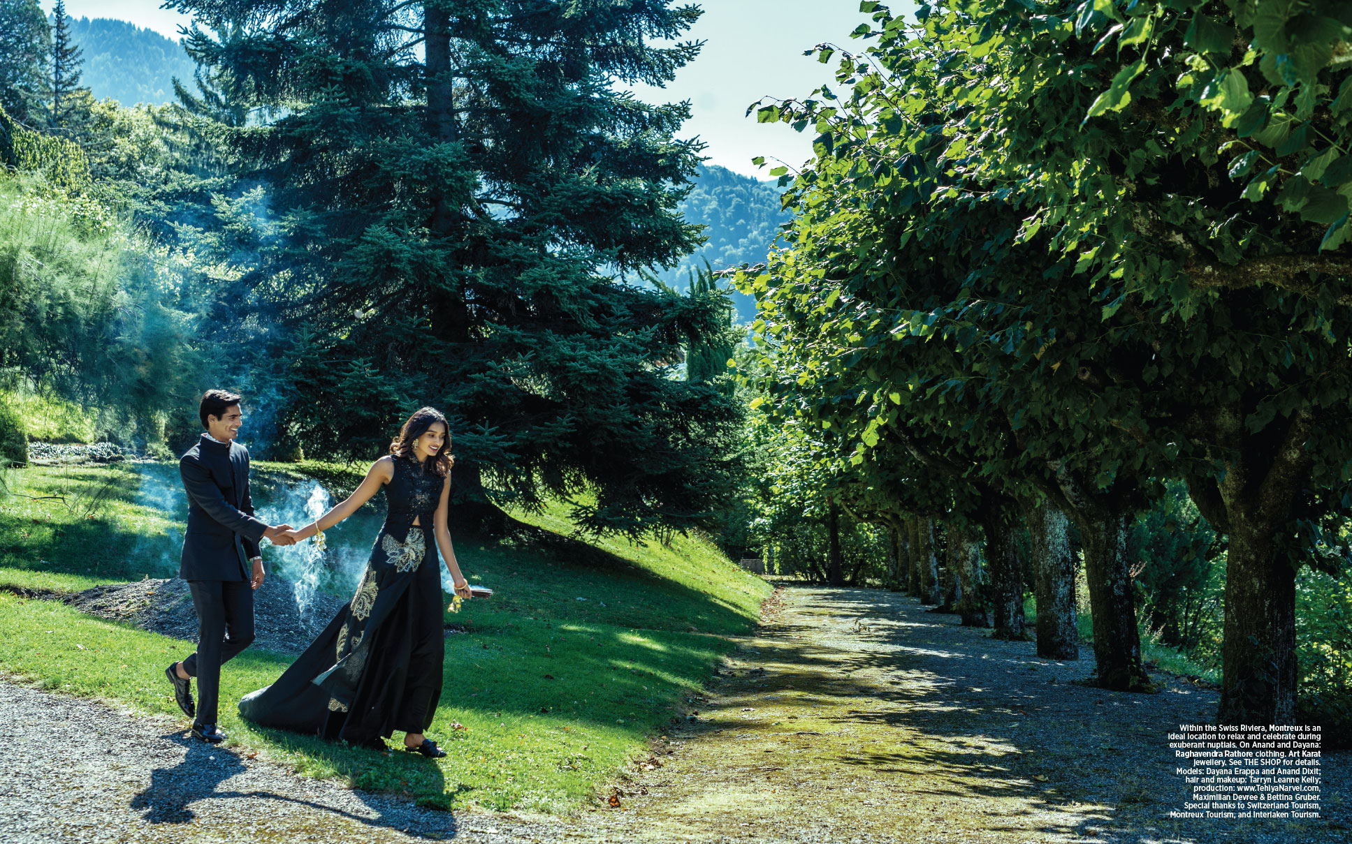 Switzerland Weddings - couple in beautiful Swiss outdoor venuie